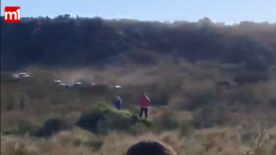 VIDEO: Una fotógrafa fue atropellada en una carrera en La Pampa