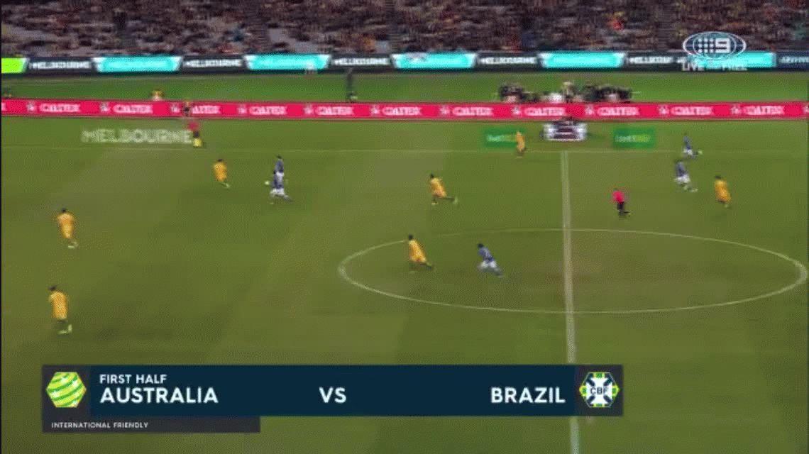 Sin piedad: Brasil le hizo un gol a Australia ¡a los 11 segundos!