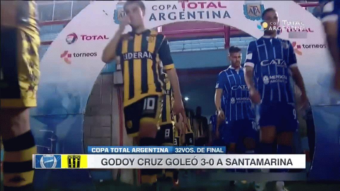 Godoy Cruz goleó a Santamarina de Tandil y avanza en la Copa Argentina