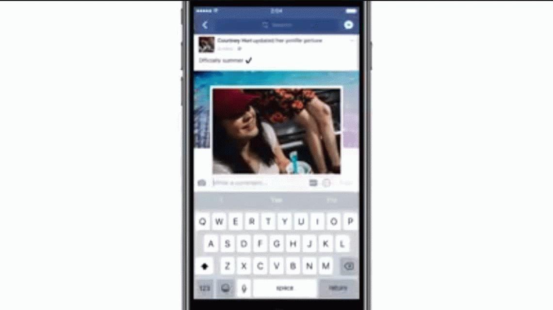 Facebook permite poner gifs en los comentarios de un post