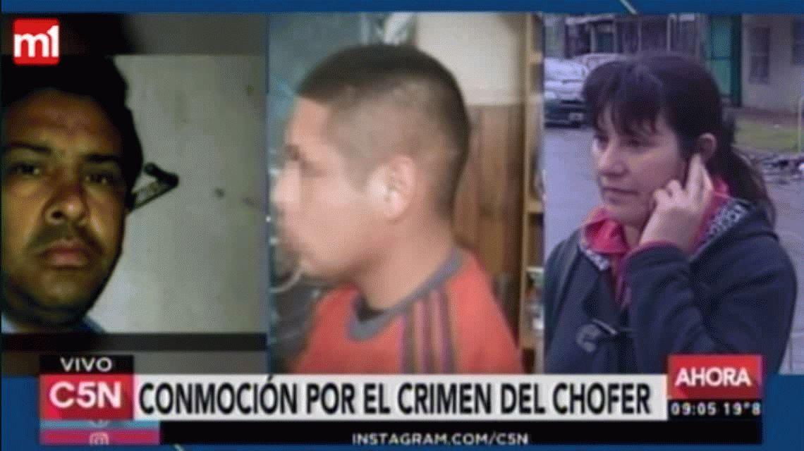 Familiares del detenido por el crimen del colectivero aseguran que es un perejil