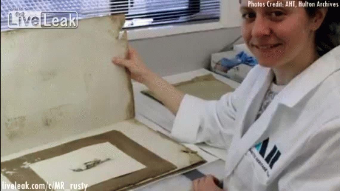 El dibujo hecho hace más de 100 años que fue hallado en la Antártida