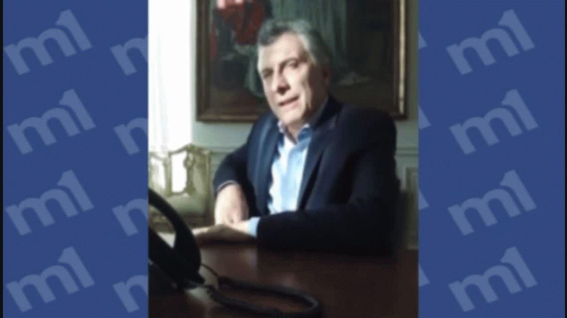 VIDEO El insólito llamado de Macri para responderle una carta a un vecino