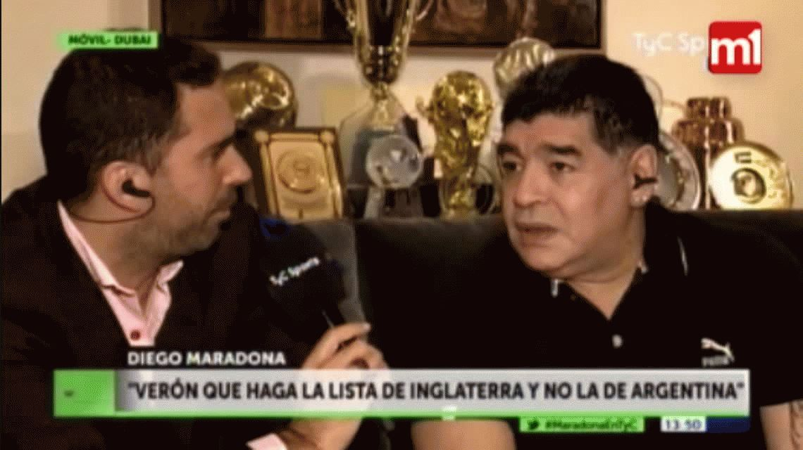 Maradona tildó de pecho frío a Riquelme y defendió a Tevez