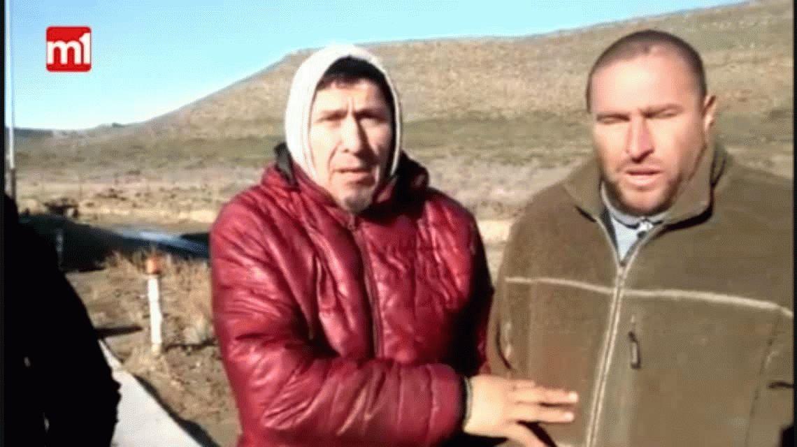 Conductores varados en la ruta 3 por la nieve en Comodoro Rivadavia