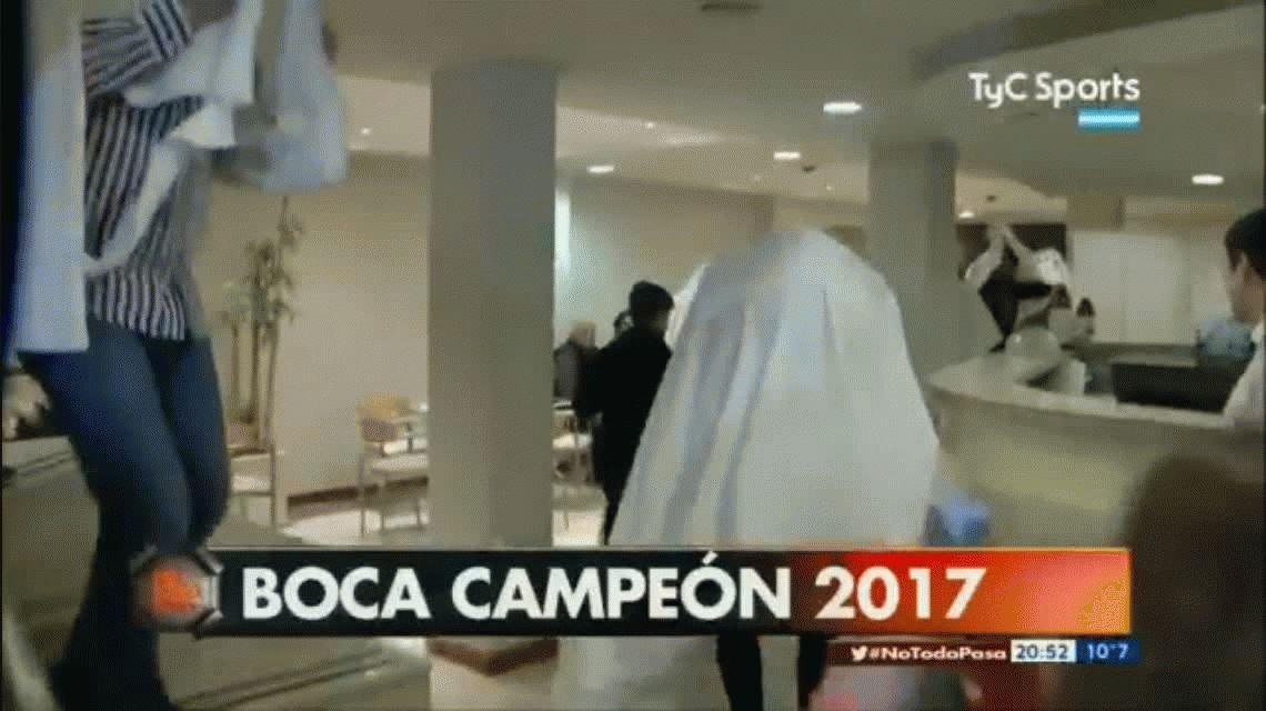 Los jugadores de Boca humillaron a River y se vistieron de fantasmas