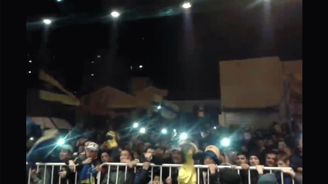 Festejos de Boca en Bahía Blanca