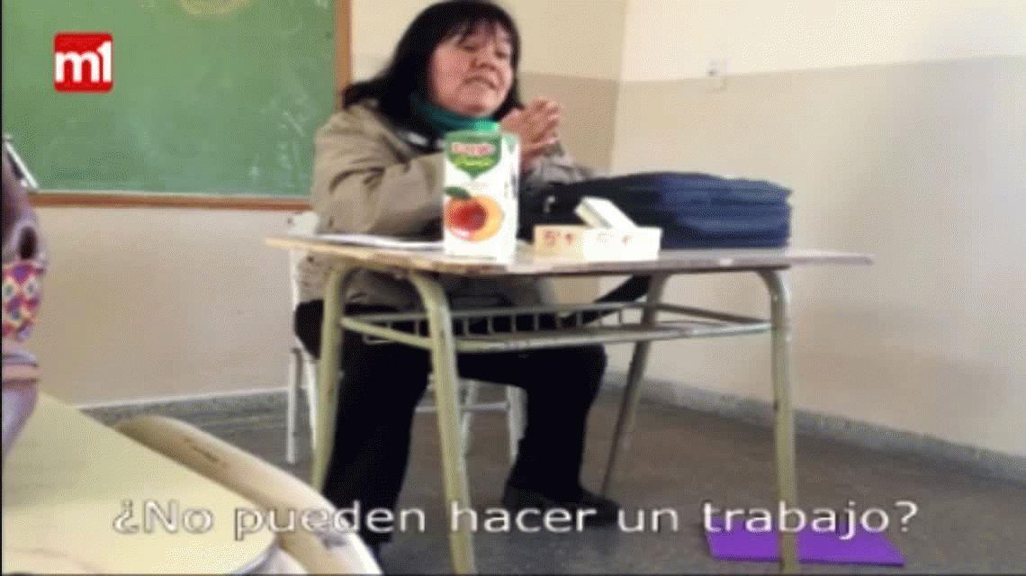 VIDEO: Una docente insultó a sus alumnos y fue filmada