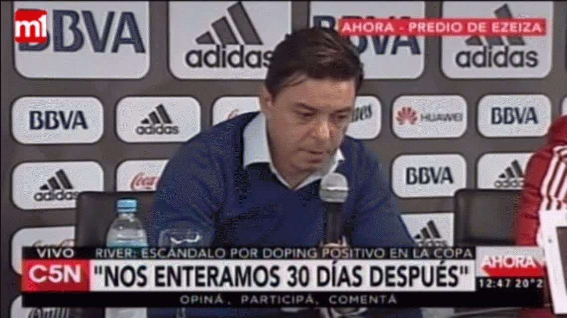 Gallardo habló de los casos de doping en River: Nos angustia