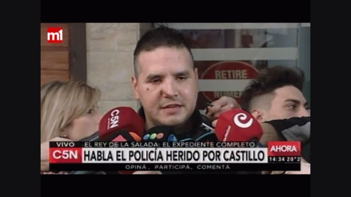 El policía baleado contó qué le dijo Jorge Castillo en su detención