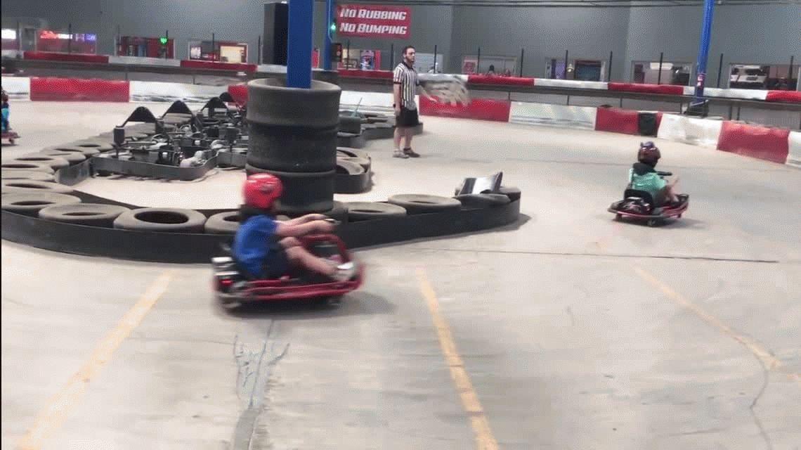 VIDEO: la travesura de un nene en el karting que se convirtió en viral