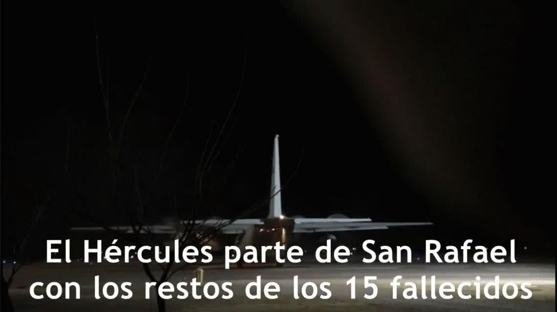 Así trasladaron los cuerpos de los fallecidos a Buenos Aires