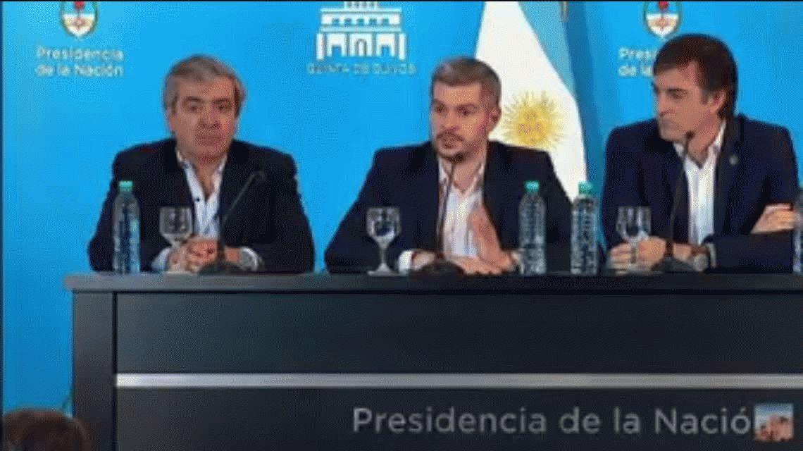 VIDEO: Peña hablaba de Cristina Kirchner y tiró un vaso