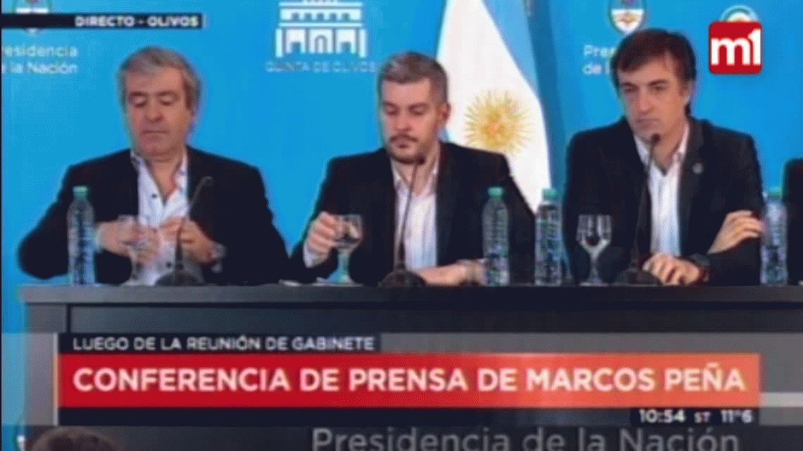 Marcos Peña defendió el bono a 100 años