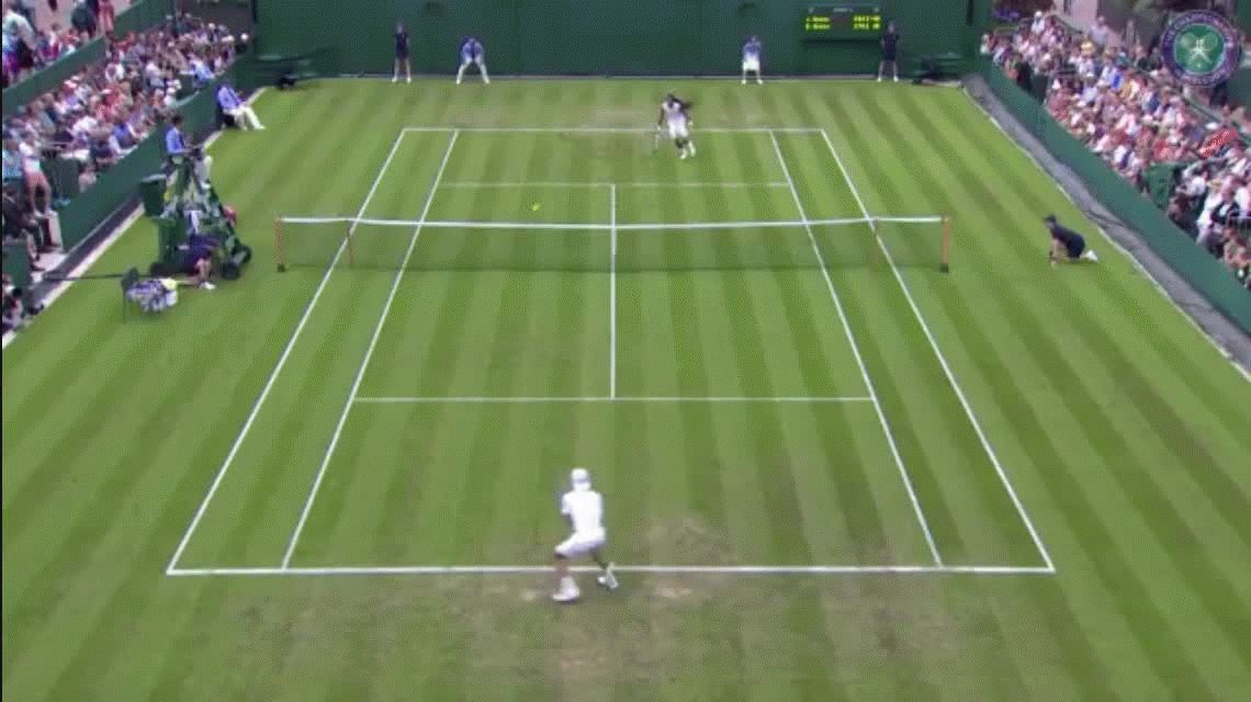 El tenista volador: mirá esta terrible acción de Dustin Brown en Wimbledon