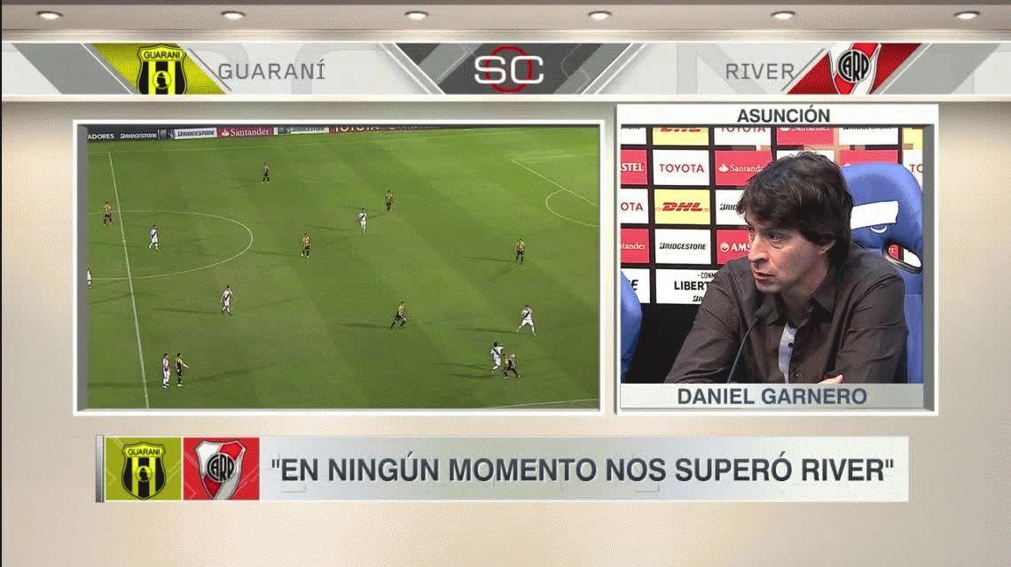 Para Garnero, DT de Guaraní, no corresponde el antidoping a todos los jugadores de River