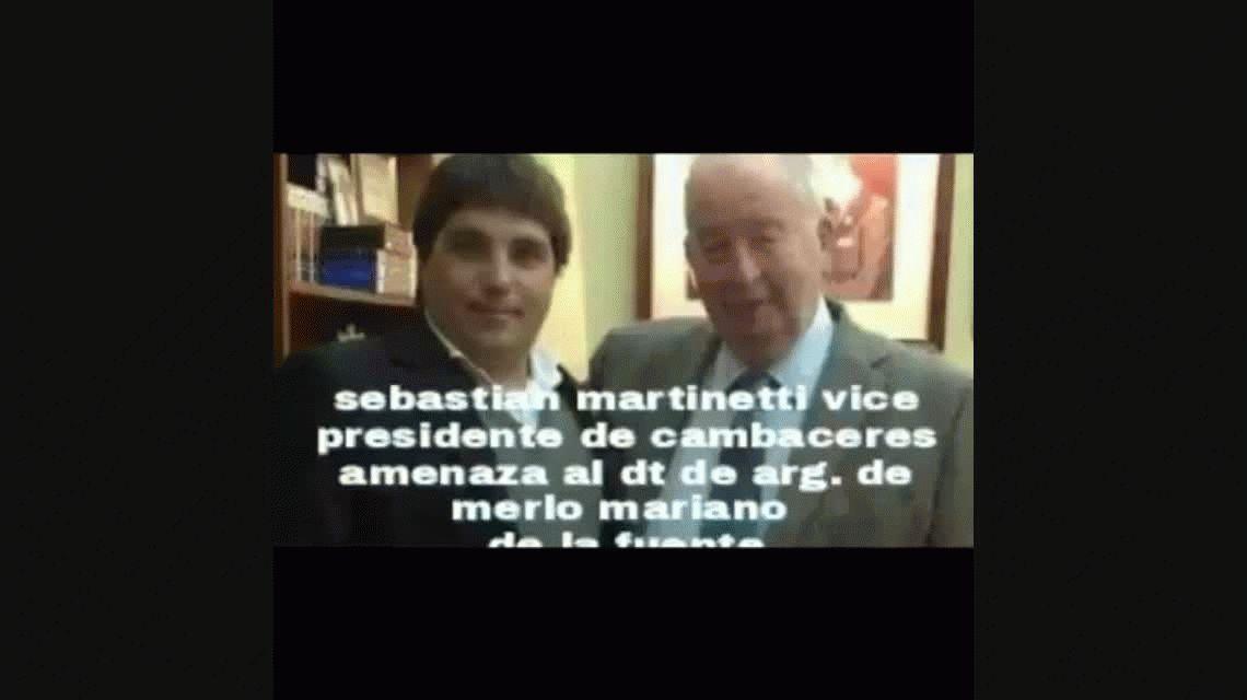 El escandaloso audio del vicepresidente de Cambaceres al DT de Argentino de Merlo