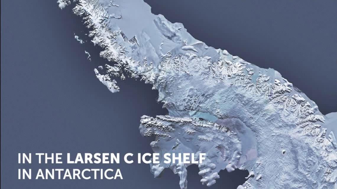 Se desprendió el iceberg más grande de la historia en la Antártida