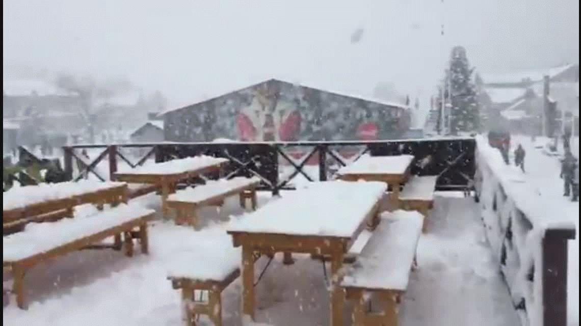 VIDEO: así se vive el peor temporal de nieve en la Patagonia