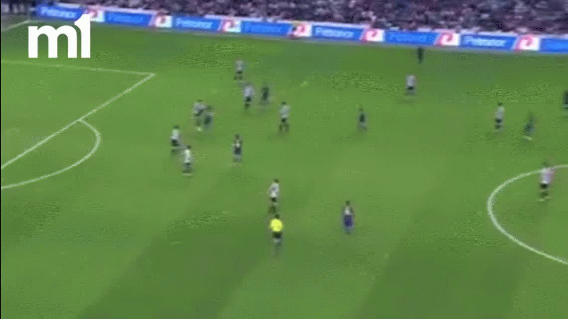 Independiente presentó al defensor que le pateó la cara a Lionel Messi