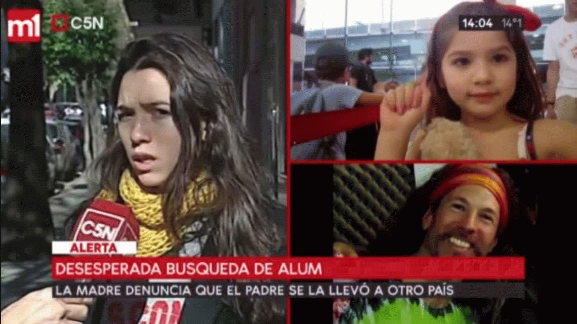 Madre de la nena desaparecida en Flores: Yo creo que el padre se la llevó a Bolivia