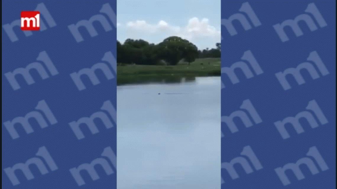 Grabaron el momento en que se ahogaba un hombre discapacitado
