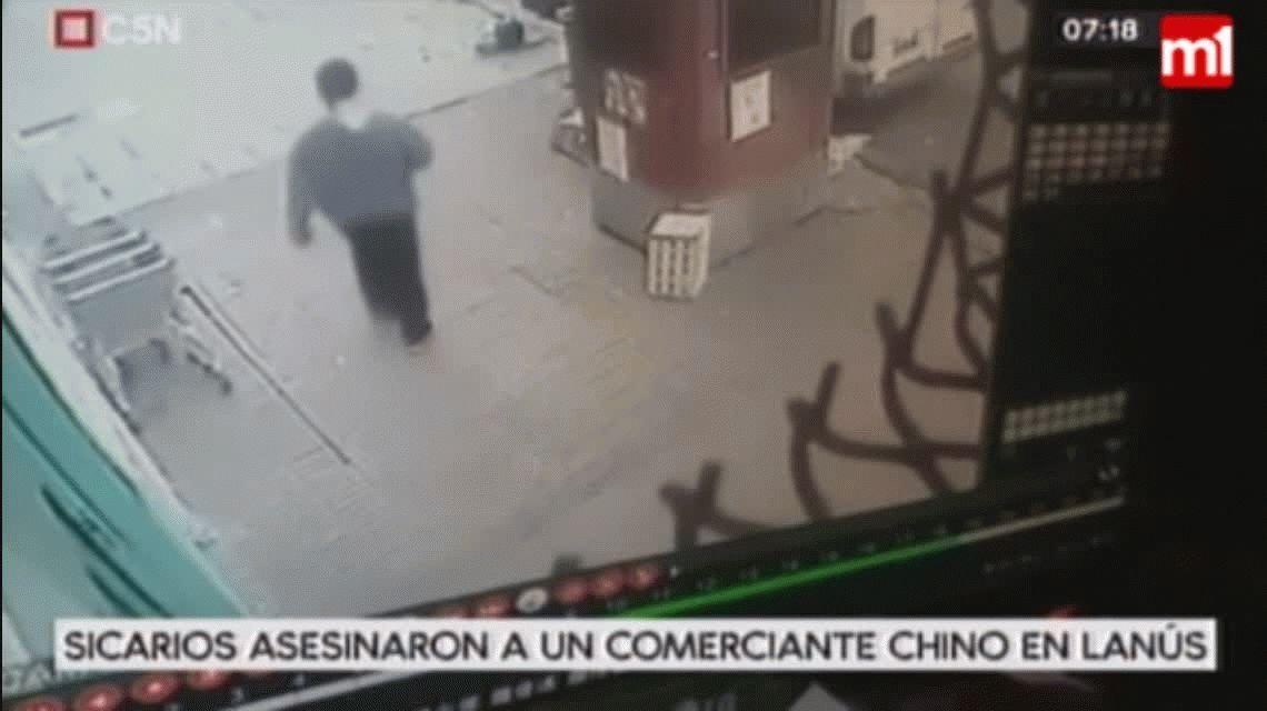 VIDEO: Así fue el crimen a sangre fría de un comerciante chino en Lanús