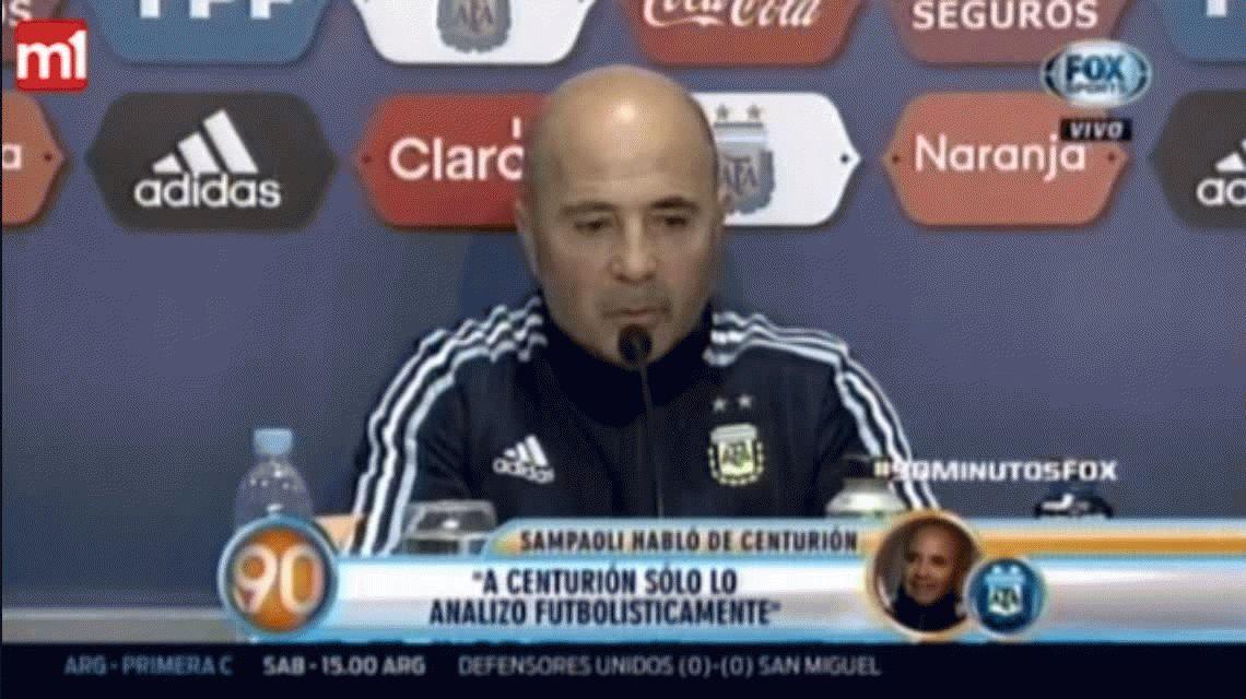 Sampaoli se refirió al tema Centurión y su posible convocatoria a la Selección