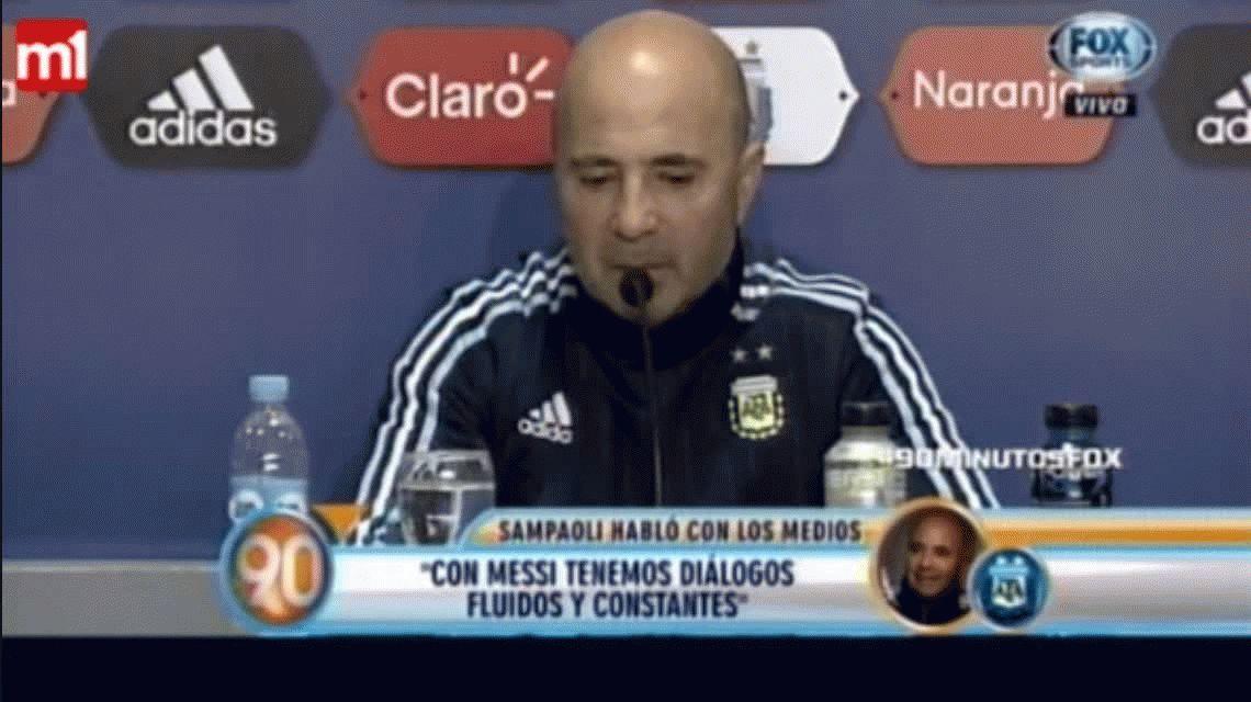 La confianza de Jorge Sampaoli hacia Lionel Messi: Es el único titular