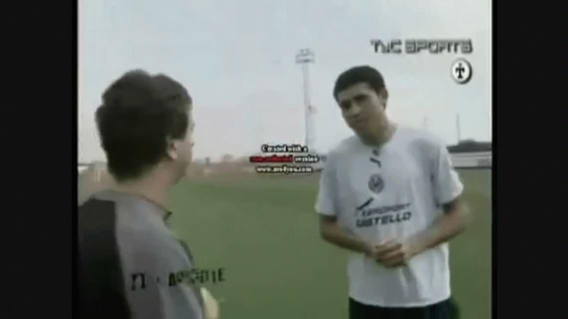 Riquelme visitó la concentración de Tigre y Caruso le ofreció volver a jugar