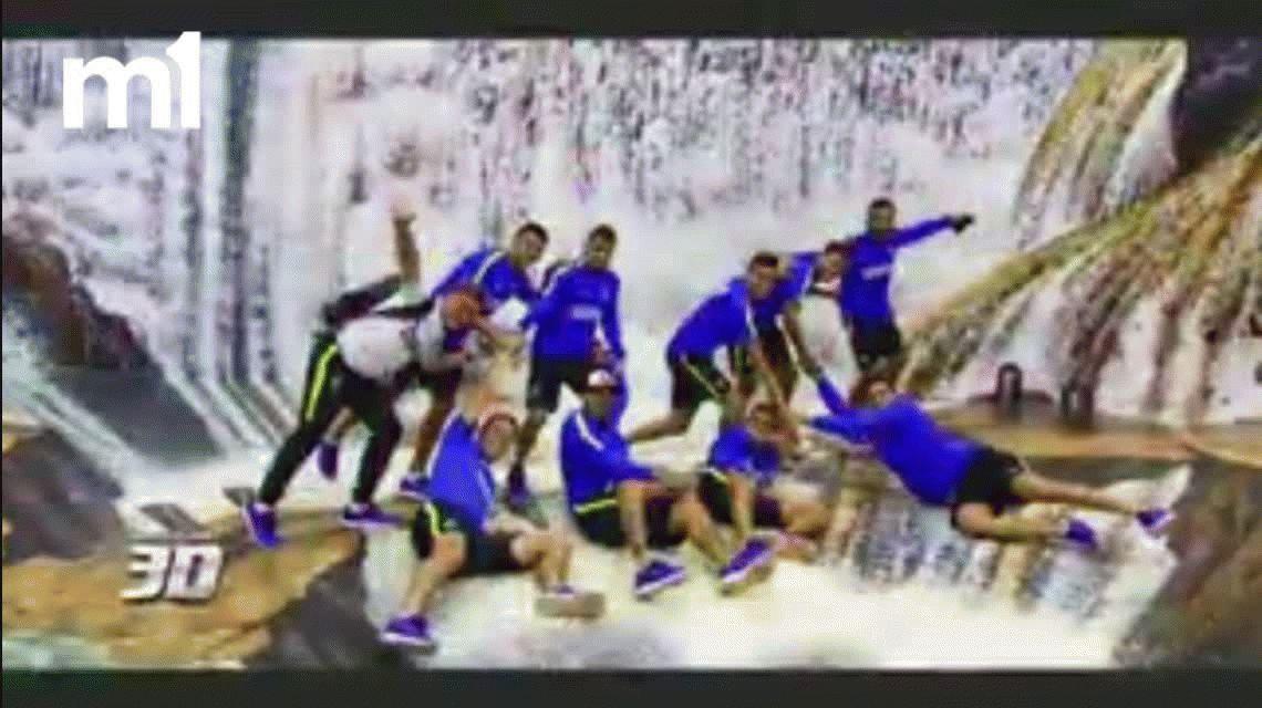 Los jugadores de Boca se divirtieron en un shopping de Ciudad del Este