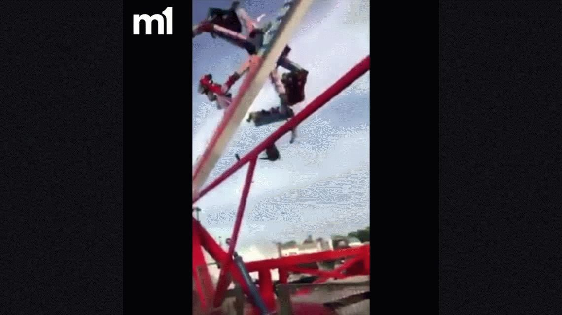 VIDEO: Accidente fatal al fallar un juego en un parque de diversiones