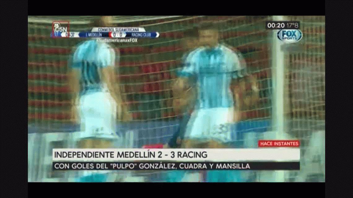 Racing dio vuelta un partido chivo ante el DIM y avanza en la Copa Sudamericana