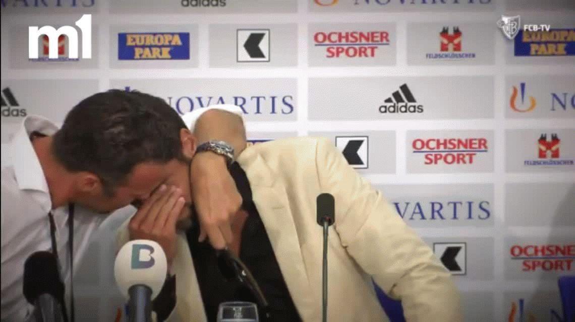Matías Delgado se quebró al anunciar su retiro y lo despidió hasta Roger Federer