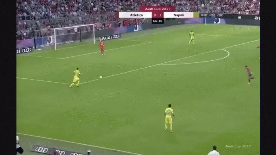 El tiki-tiki del Nápoli que dejó a todos con la boca abierta ante el Atlético Madrid