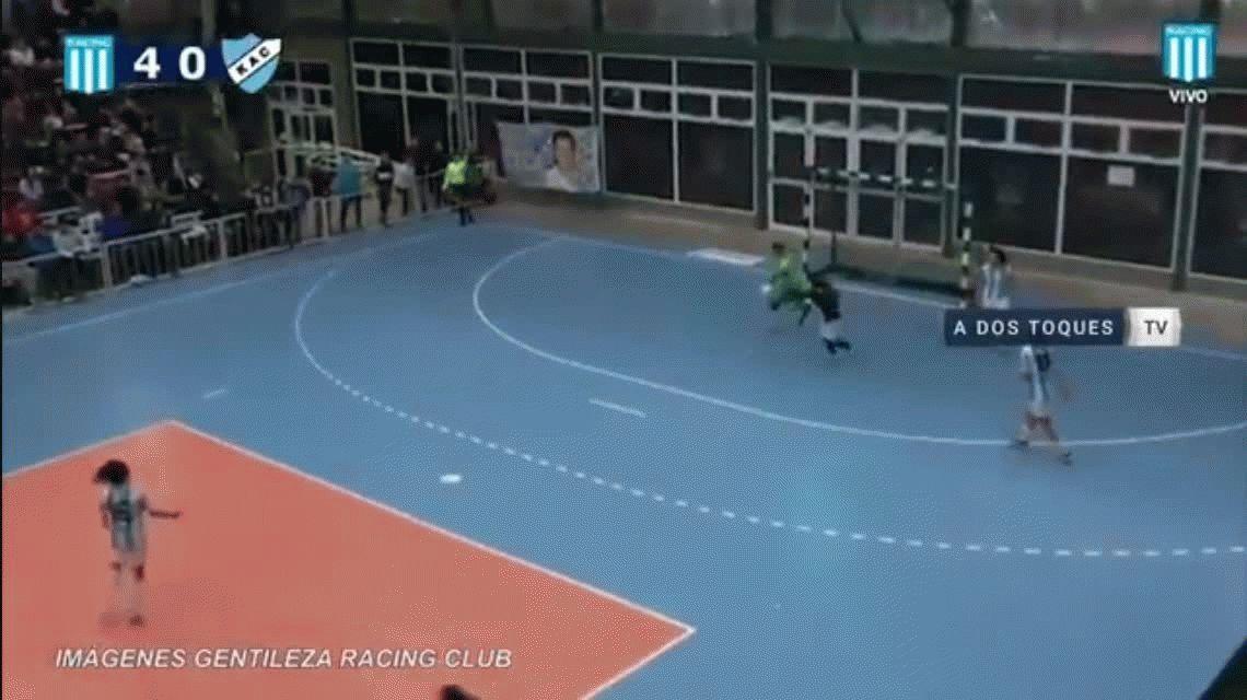 ¡Qué precisión! El golazo de arco a arco de Racing en el futsal femenino