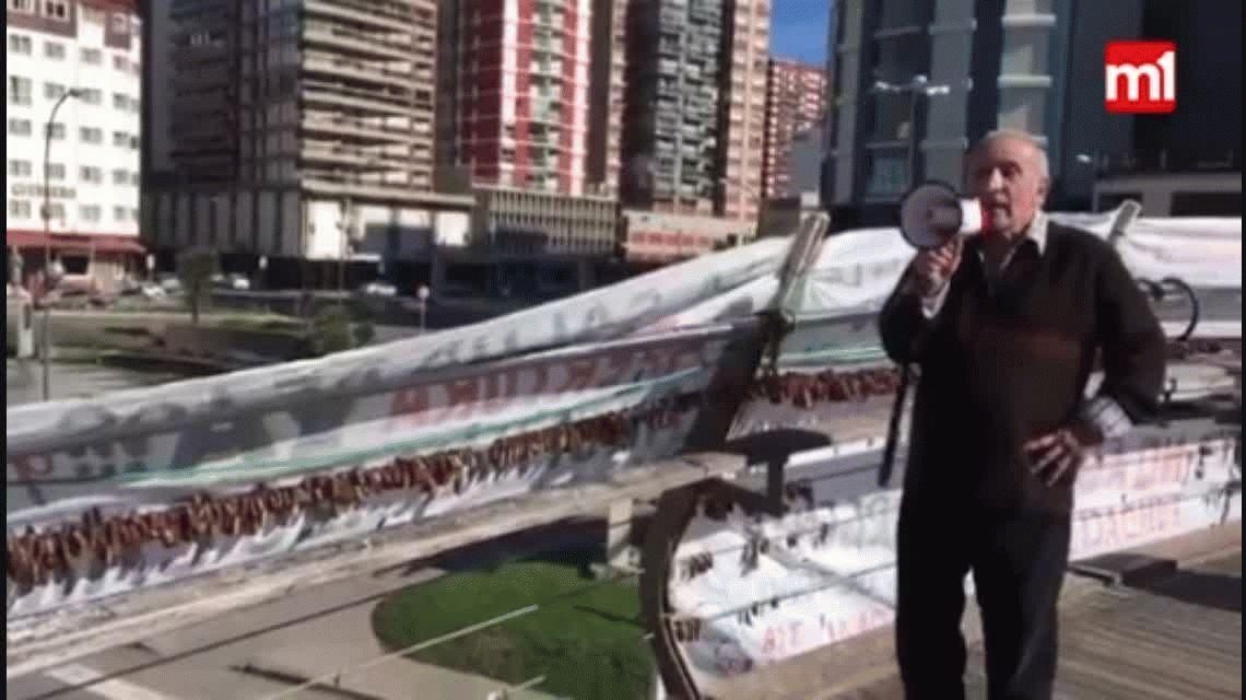 Un jubilado convocó a una manifestación en Mar del Plata y nadie lo acompañó