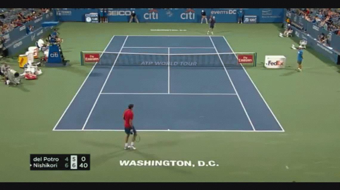 ATP 500 de Washington: Del Potro perdió en dos sets ante el japonés Nishikori