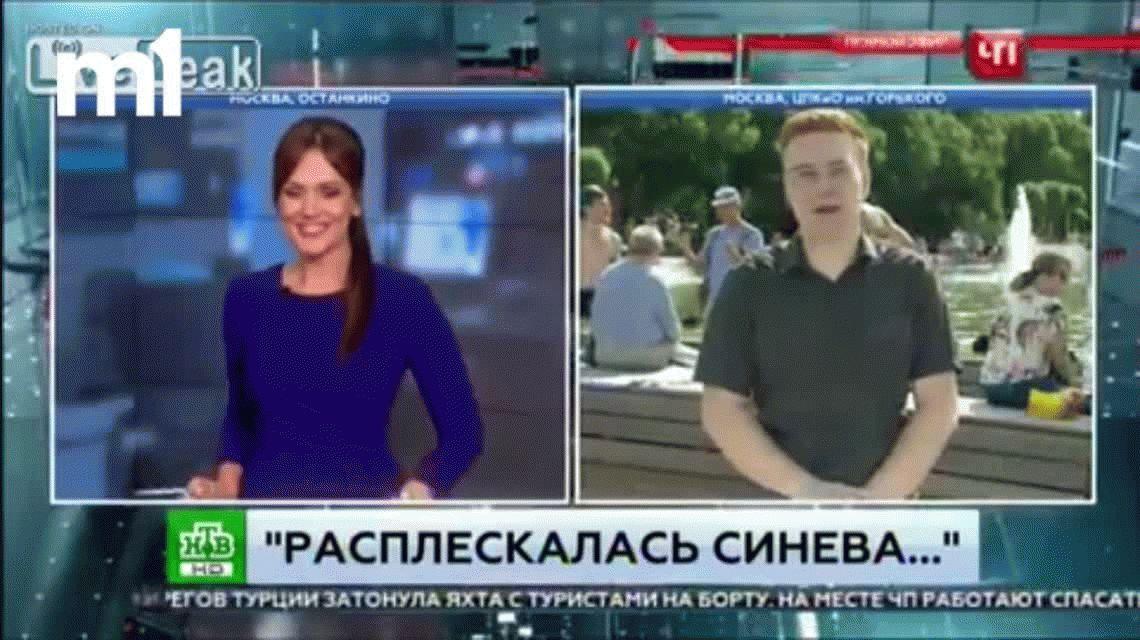 VIDEO: Un periodista ruso recibió una terrible trompada en vivo