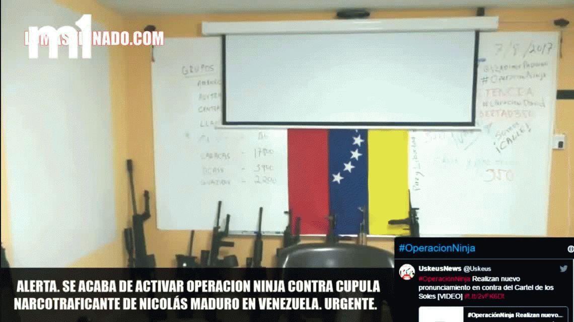 Desconcierto por un video que anuncia la operación ninja en Venezuela