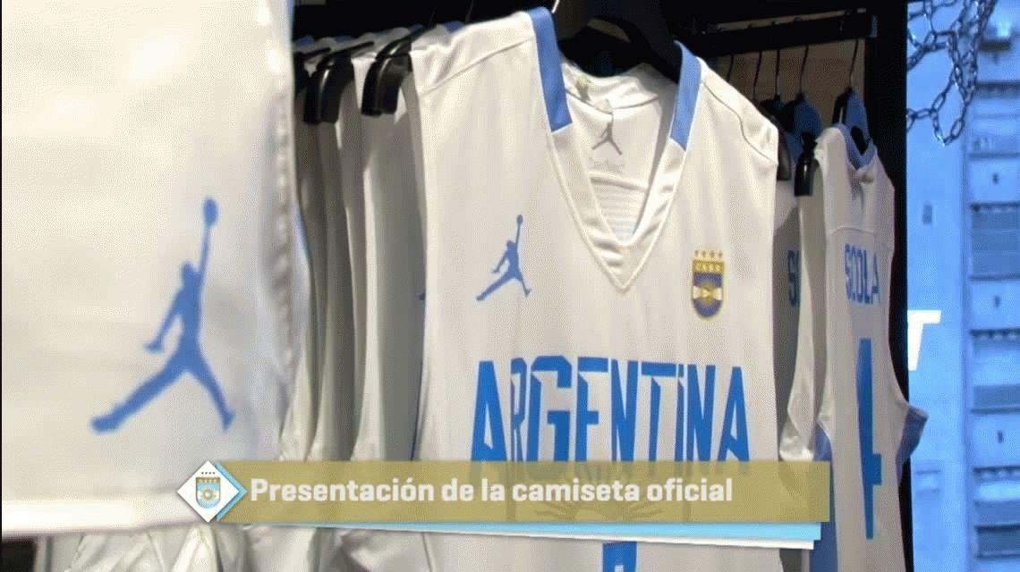 Nueva camiseta Jordan de la Selección argentina de básquetbol