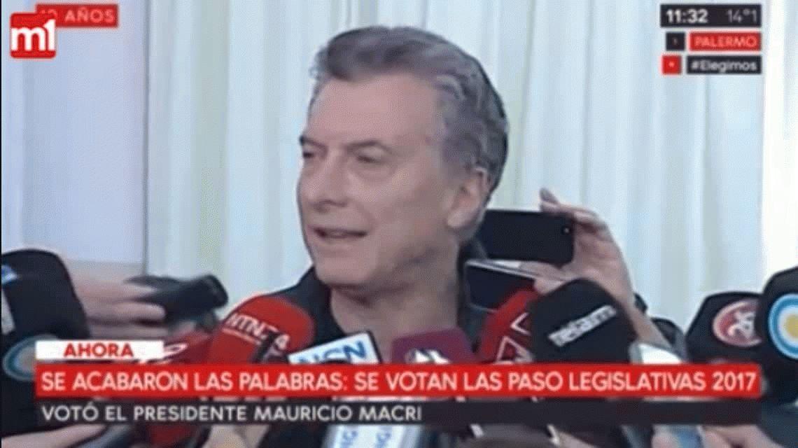 PASO 2017: Macri fue a votar y pidió comer unos buenos ravioles