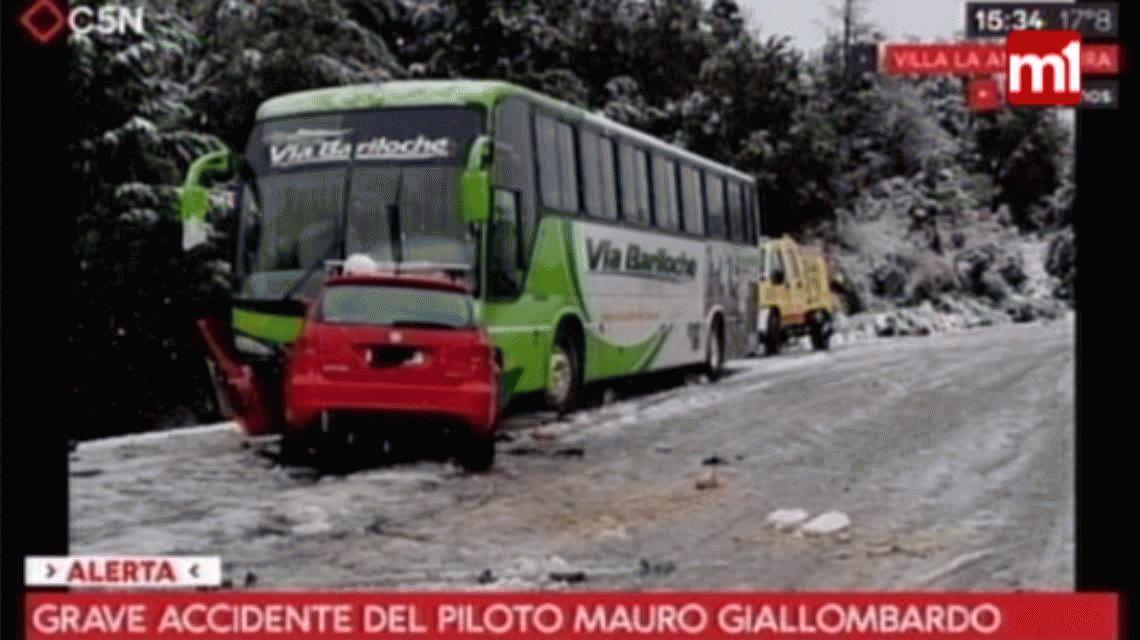Mauro Giallombardo chocó contra un colectivo en la ruta 40 y está grave
