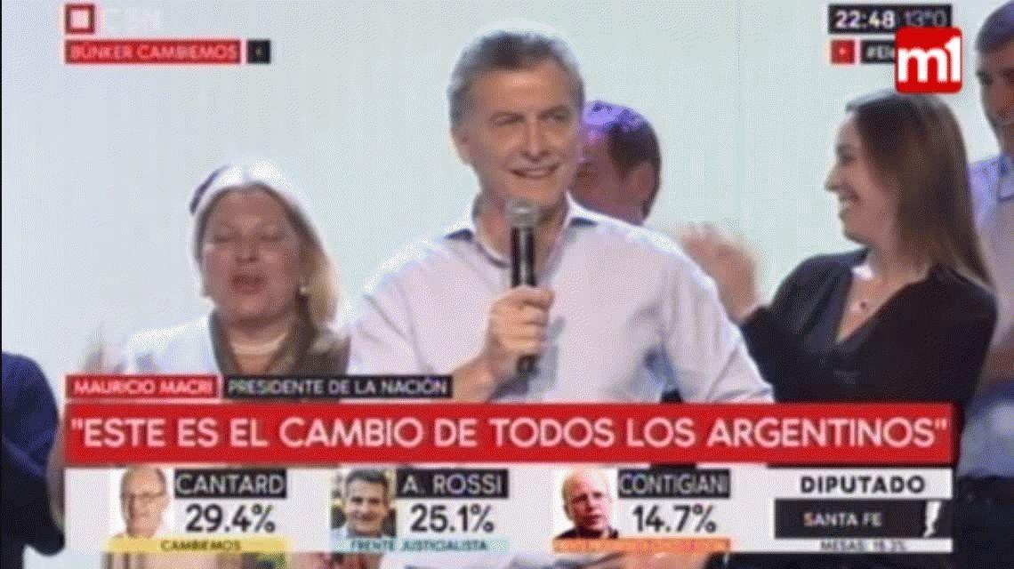 Macri retó a Carrió por todo lo que comió: No dejó nada en la parrilla