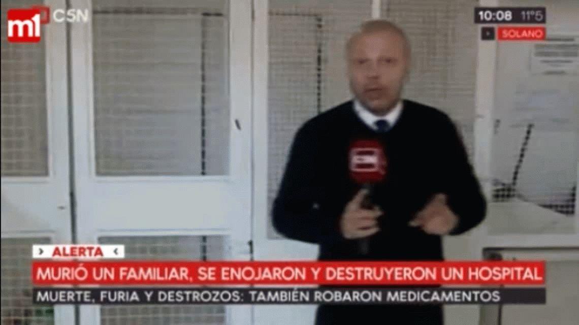 Familiares de un paciente que murió destruyeron un hospital en Solano