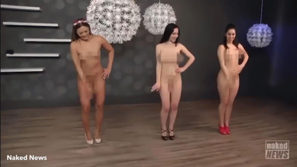 Presentadoras de Noticias Desnudas hacen versión porno de tradicional danza ucraniana