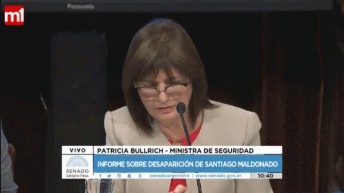 VIDEO: Bullrich citó a CFK, criticó a los medios y estalló de risa con el Senado