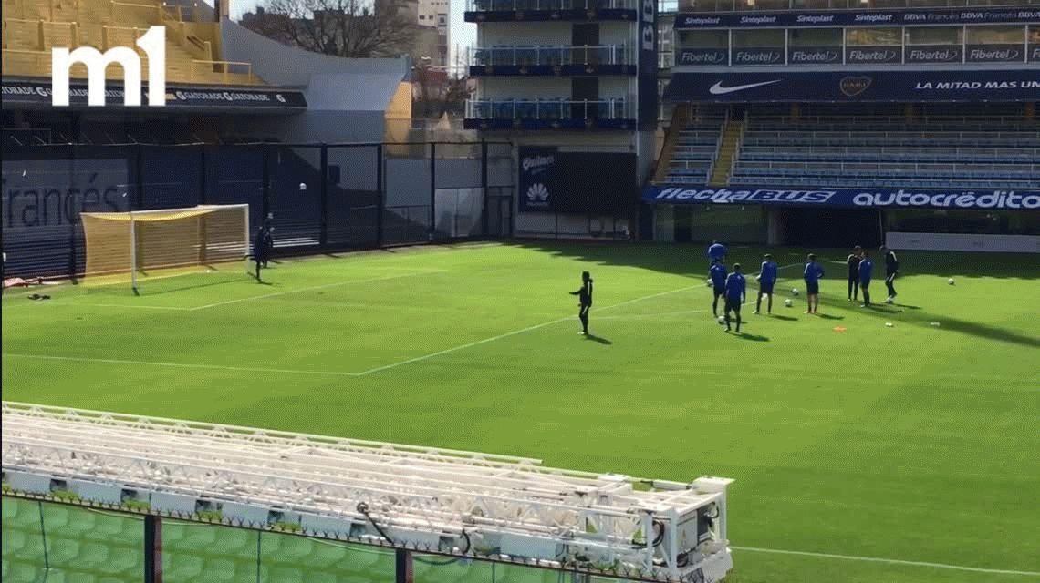 ¡Denle la 7! Guillermo Barros Schelotto cautivó a todos en la práctica de Boca