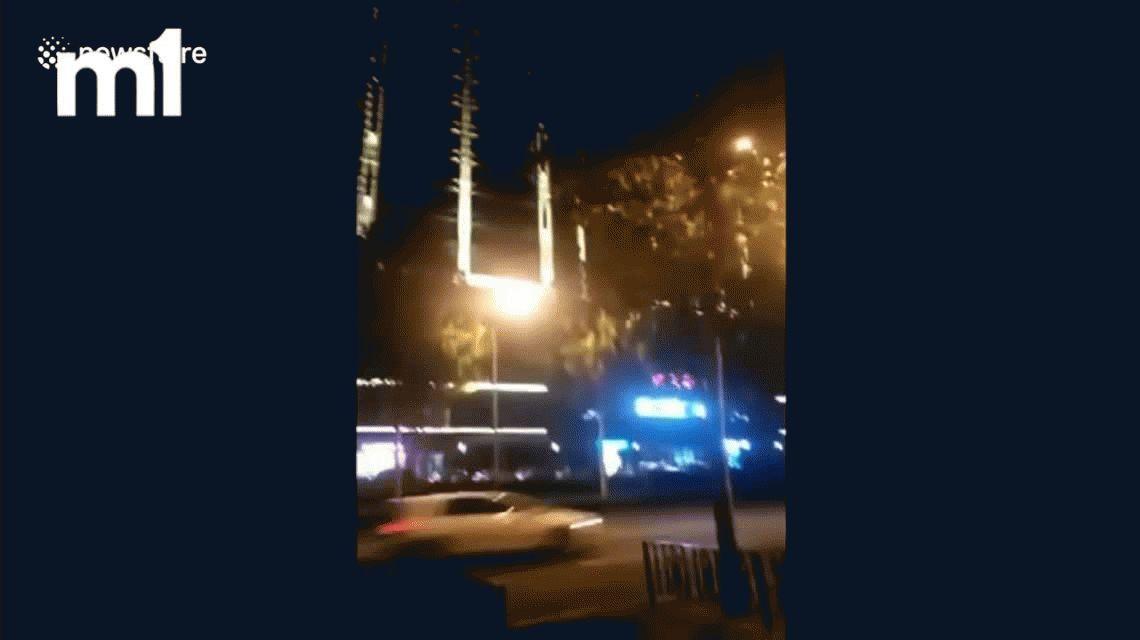 Graban el vuelo de un OVNI rectangular en el cielo de China