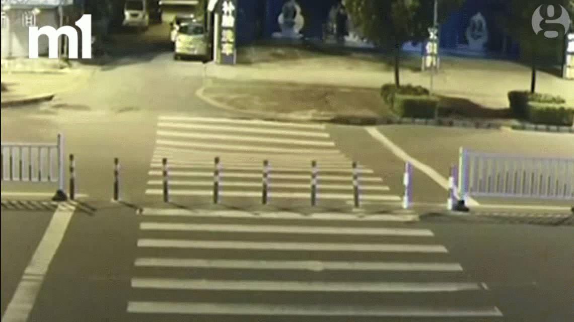 VIDEO: Un motociclista manejaba mirando el celular y se cayó en un pozo
